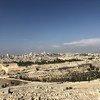مدينة القدس كما تبدو من أعلى جبل الزيتون. نوفمبر/تشرين الثاني 2018.