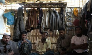 Bangladesh. The Rohingya refugees who fled Myanmar to safety in Cox's Bazar