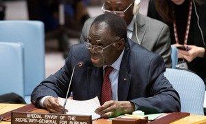 Michel Kafando, Envoyé spécial du Secrétaire général pour le Burundi, devant le Conseil de sécurité (photo d'archives).