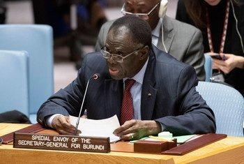 Michel Kafando, Envoyé spécial du Secrétaire général pour le Burundi, devant le Conseil de sécurité.