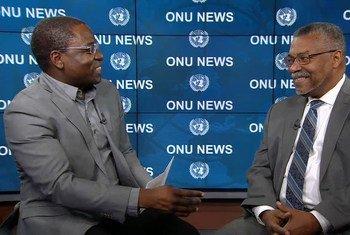 Eleutério Guevane e o embaixador Fernando Delfim da Silva