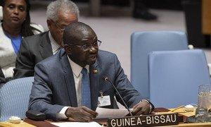 João Ribeiro Butiam Có, Ministro dos Negócios Estrangeiros da Guiné-Bissau, discursa na reunião do Conselho de Segurança sobre a situação no seu país.