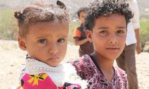 YEMEN: Abdulla brought his younger sister to the Health Medical Center where she received the needed medication in the targeted area supported by UNICEF