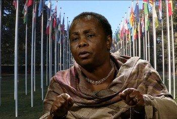 Julienne Lusenge, militante congolaise qui s'engage depuis trente ans en faveur des femmes victimes de violences dans l'est de la République démocratique du Congo (RDC).