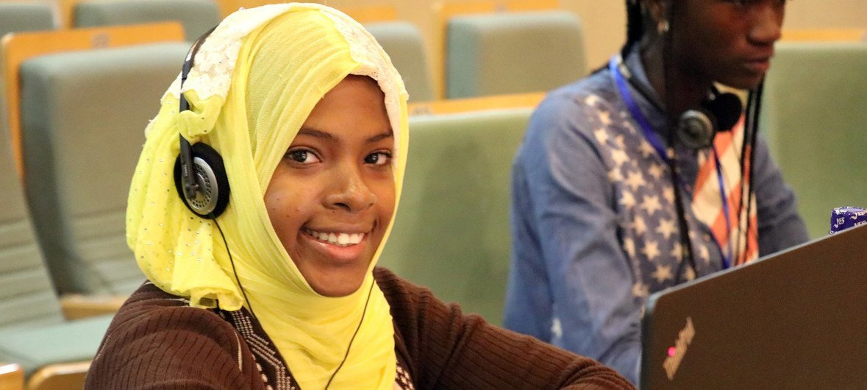 Khayrath Mohamed Kombo, 15, ni mmoja wa wasichana walioshiriki kambi ya kuwawezesha wasichana kuwa wabobevu katika programu za Kompyuta iliyofanyika Addis Ababa mwaka 2018.