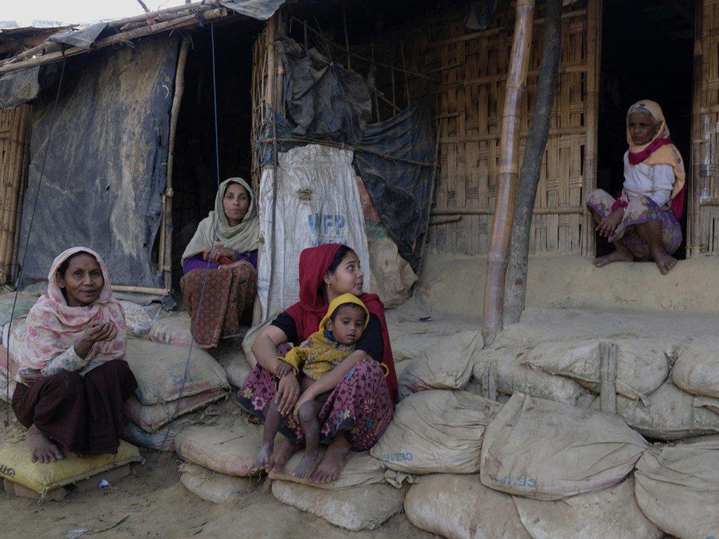 A Cox's Bazar, au Bangladesh, des réfugiés rohingya qui ont fui le Myanmar
