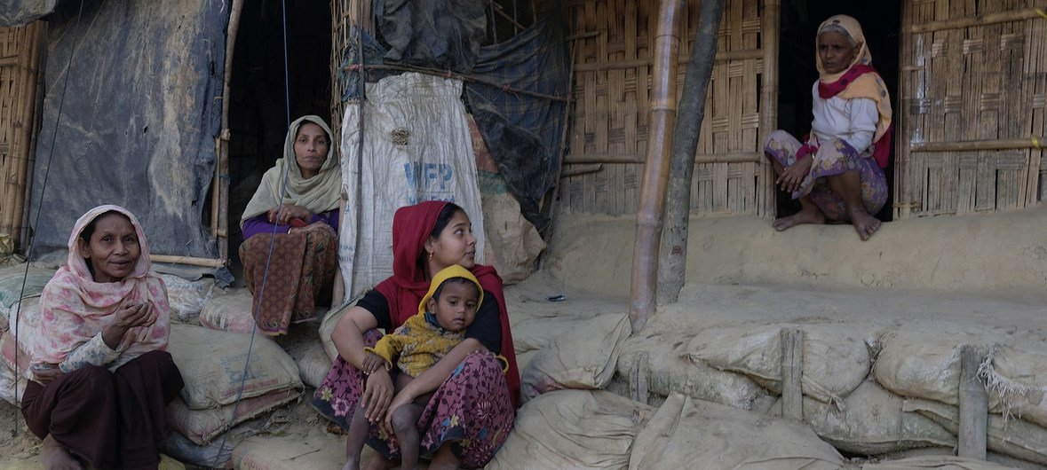 Bangladesh. Rohingya refugees who fled Myanmar to safety in Cox's Bazar.