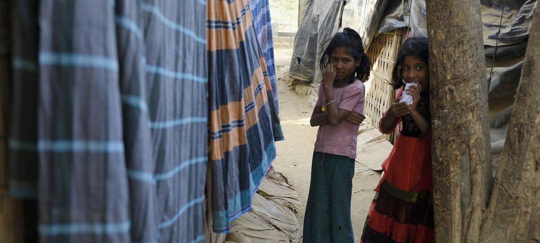 目前生活在孟加拉国考克斯巴扎地区的罗兴亚难民。