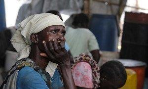Une femme habitant à Wau Shilluk, au Soudan du Sud.