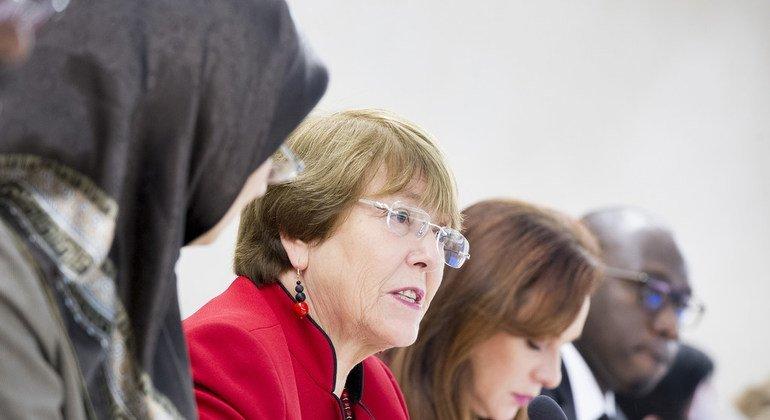 La Alta Comisionada para los Derechos Humanos, Michelle Bachelet, participa en la apertura del 40° período de sesiones del Consejo de Derechos Humanos de la ONU.