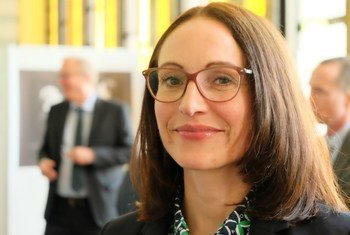 Nina Larson, President of the Association of UN Correspondents in Geneva (ACANU)