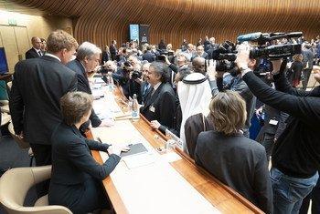 2019也门高级别捐助大会今天在日内瓦举行。联合国秘书长古特雷斯、负责人道事务的副秘书长洛科克、瑞士联邦委员会副主席以及瑞典外长参加了会议。