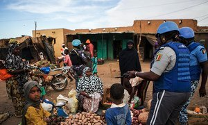UNPOL patrol in the Menaka region in the far north-east of Mali. The region is experiencing increasing insecurity as a result of attacks by terrorist groups and armed bandits.