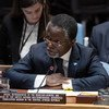 MINUSCA Chief Parfait Onanga-Anyanga briefs the United Nations Security Council on the situation in the Central African Republic.
