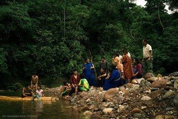 دينيانيرا ميشاري، زعيم مجتمع محلي يحمي الأمازون في بيرو.