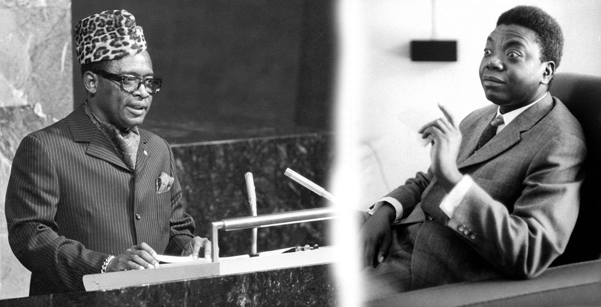 Two important figures in the history of the country now known as the Democratic Republic of the Congo – Mobutu Sese Seko, who served as President, and Moise Tshombe, who served as Prime Minister, as well as leader of the breakaway province of Katanga.