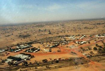 لقطة من الجو لمنطقة قريضة، جنوب دارفور  (ملف - ديسمبر 2018)