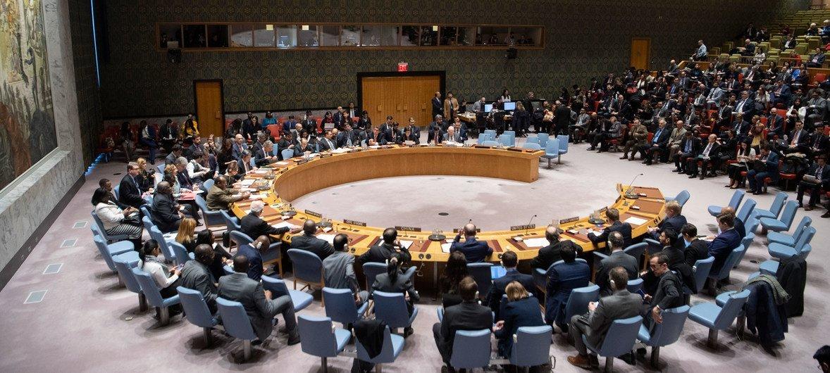 Reunião no Conselho de Segurança