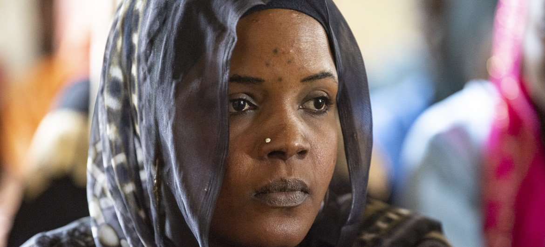 Fatime Ali Abakar, mwenye umri wa miaka 22, amekuwa akijifunza kuhusu usawa wa kijinsia na madarasa hayo yanawezeshwa na shirika la idadi ya watu la Umoja wa Mataifa, UNFPA