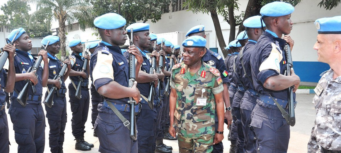 Brigadier General Emmanuel Wekem Kotia, the Commander of the Western Sector in the UN Peacekeeping Mission in the Democratic Republic of the Congo (MONUSCO).
