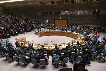 Los miembros del Consejo de Seguridad votan una de las resoluciones para Venezuela.