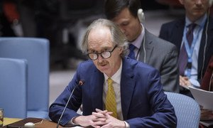 Special Envoy Geir O. Pederson updates the Security Council on the situation in Syria.