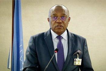 Ministro das Relações Exteriores de Angola, Manuel Domingues Augusto, no Conselho de Direitos Humanos