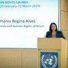 Ministra da Mulher, da Família e dos Direitos Humanos, Damares Alves.