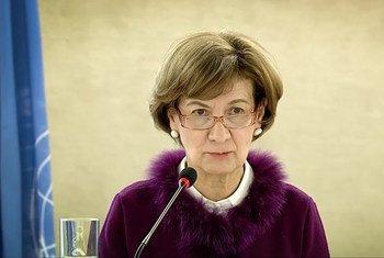 Secretária de Estado dos Negócios Estrangeiros e da Cooperação de Portugal, Teresa Ribeiro, no Conselho de Direitos Humanos