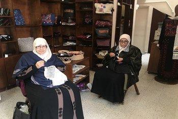 مركز سلافة هو الأول من نوعه الذي أنشئ في فلسطين لمساعدة اللاجئات الفلسطينيات على إيجاد مصدر دخل لهن، ومساعدتهن على مصاعب الحياة التي زادت تعقيدا في قطاع غزة خلال السنوات الأخيرة.