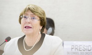 Michelle Bachelet, UN High Commissioner for Human Rights, addressing the Human Rights Council on the state of global human rights, 6 March, 2019.
