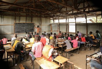 Students learning in Makod Primary and Secondary School in Tierkidi Refugee Camp, Gambella Region, Ethiopia.