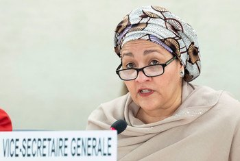 UN Deputy Secretary-General Amina Mohammed addresses the 40th session of the Human Rights Council in Geneva.