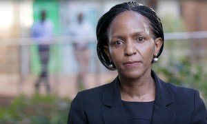 Joyce Msuya, Kaimu Mkurugezi wa UNEP akiwa katika halfa ya kuwaenzi wafanya kazi wa UN waliopoteza maisha katika ajali ya ndege