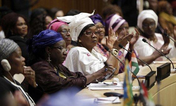 فعالية إطلاق شبكة القيادات النسائية الأفريقية في مقر الأمم المتحدة بنيويورك. أرشيف/2017.