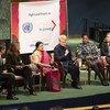 'सत्ता में महिलाएं' विषय पर यूएन महासभा कक्ष में आयोजित एक कार्यक्रम.