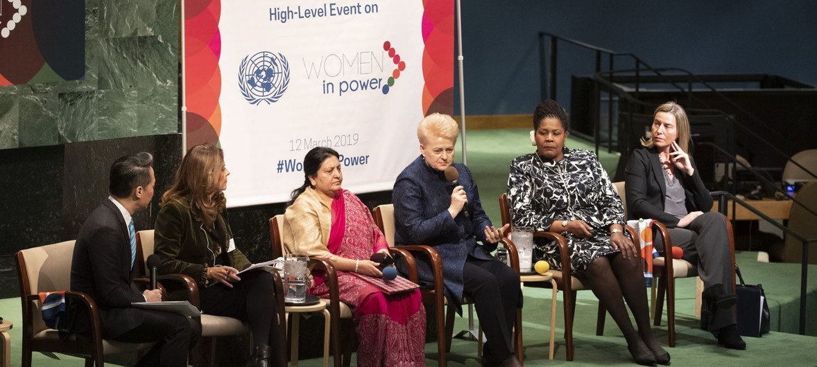 """A high-level event on """"Women in Power"""" was held in the General Assembly hall as part of the 63rd Commission on the Status of Women (CSW), 12 March 2019."""