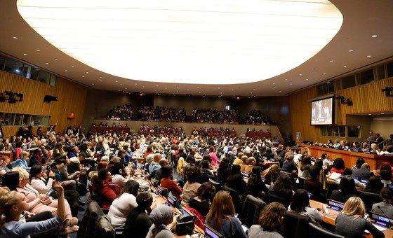 Secretária de Estado para a Cidadania e a Igualdade de Portugal, está em Nova Iorque para participar na 63ª Conferência Sobre o Estatuto da Mulher, na sede da ONU.