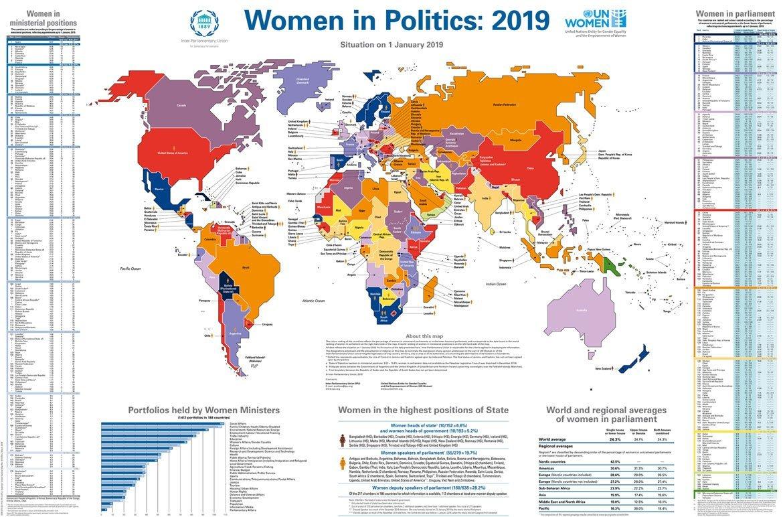 2019妇女参政地图。