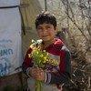 Un garçon réfugié syrien au Liban qui a huit ans, soit le même nombre d'années que la guerre qui sévit dans son pays depuis 2011.
