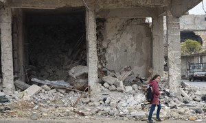 In schools in Aleppo, Syria, students are taught how to move around safely in the city, to avoid potentially hidden explosives, after years of warfare between Government and opposition forces.