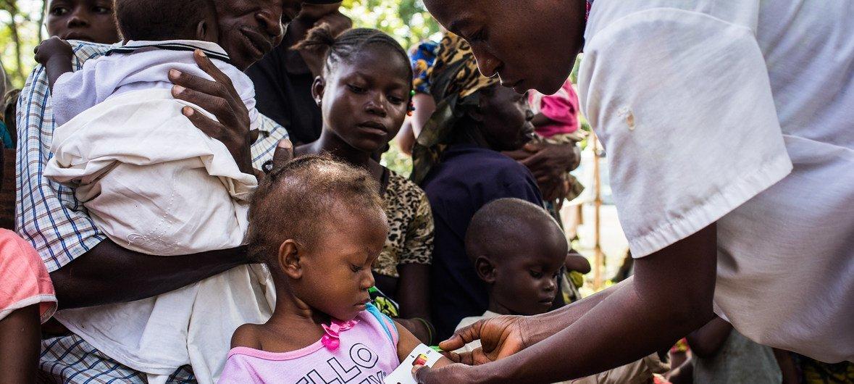 Campanha de vacinação contra o sarampo teve início foram os quatro campos de deslocados.