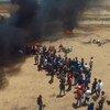 Protestas en la valla fronteriza entre Israel y Gaza. (Imagen de archivo)