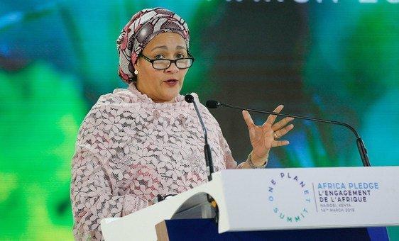 أمينة محمد، نائبة الأمين العام في مخاطبتها للدورة الرابعة لجمعية الأمم المتحدة للبيئة، المنعقدة في نيروبي، كينيا -  الأربعاء 14 مارس 2019