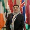 ذكرى علوش أمينة(عمدة) بغداد ورئيسة اللجنة العليا للنهوض بالمرأة العراقية، خلال حوار مع أخبار الأمم المتحدة.