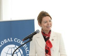 Lise Kingo, CEO and Executive Director, UN Global Compact, speaking at CEO roundtable on resistance and backlash to gender equality.