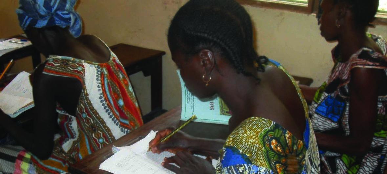 Escola em Guiné-Bissau, membro da Cooperação Sul-Sul