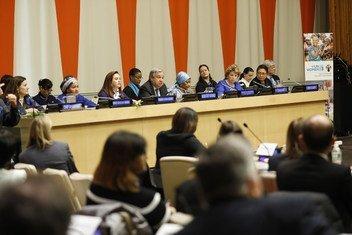 Comemoração do Dia Internacional da Mulher na sede das Nações Unidas em Nova York.