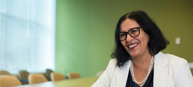Maritza Rosabal, ministra da Educação, Família e Inclusão Social de Cabo Verde