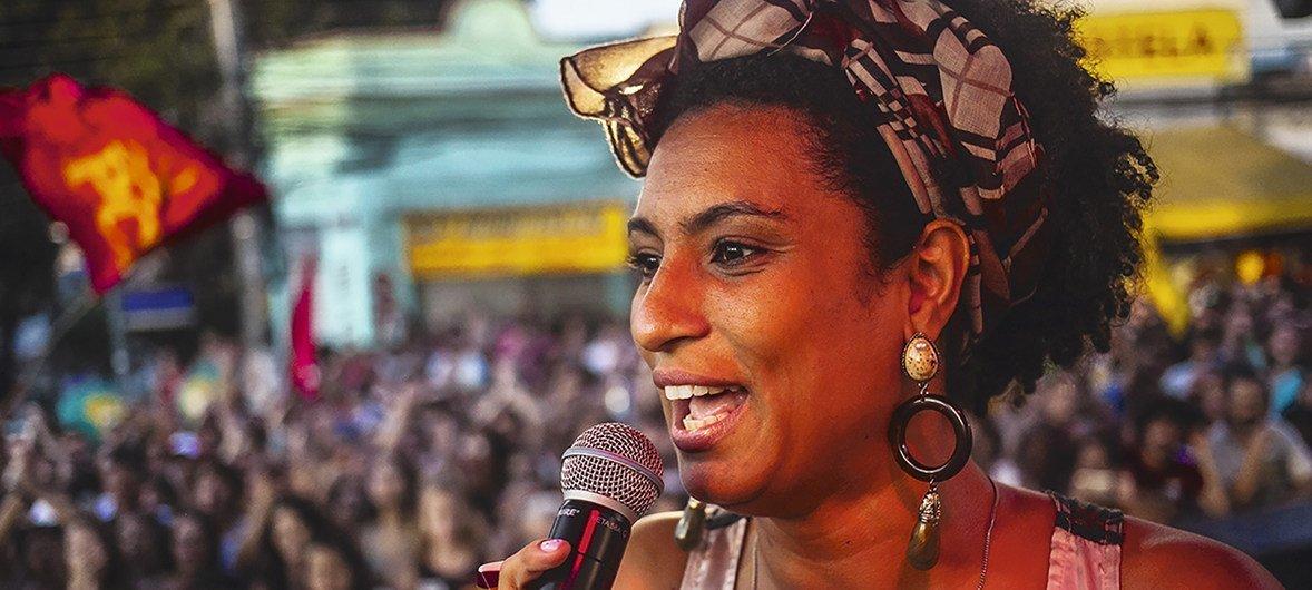 Бразильский политик и правозащитница Мариэль Франко была убита в Рио-де-Жанейро 14 мая 2018 года.
